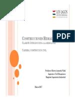Construcciones Hidraulicas Clase 01
