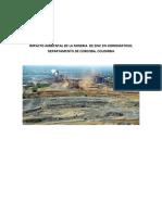 Impacto Ambiental de La Mineria de Zinc en Cerromatoso