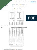 Dimensions of Steel Beams Type IPE and INP European Standard