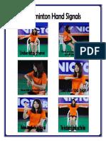 Badminton Hand Signal