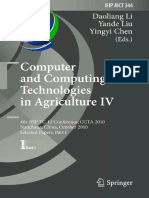 (IFIP Advances in Information and Communication Technology 344) Yanjun Zuo, Xu Ma, Long Qi, Xinglong Liao (Auth.), Daoliang Li, Yande Liu, Yingyi Chen (Eds.)-Computer and Computing Technologies in Agr