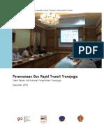 BRT Planning for Transjogja, Institutional Assessment Management Package of Transjogja