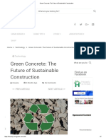 Green Concrete - The Future of Sustainable Construction