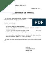 10376-1174-Attestation de Travail Type