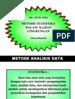 Metode Statistika Dalam Kajian Lingkungan