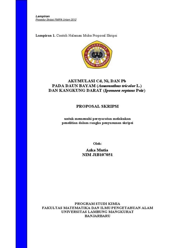 Draft Skripsi Fmipa Unlam Pdf
