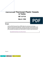 Reinforced Thermoset Plastic Vessels and Tanks