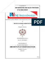 The Mutual Fund Marketing and Sales Strategies at Nj India Invest