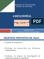 Amenorreia - Professora Jaqueline
