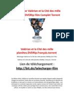 Télécharger Valérian Et La Cité Des Mille Planètes DVDRip Film Complet Torrent