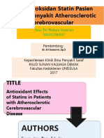 JURNAL Efek Antioksidan Statin Pasien Dengan Penyakit Atherosclerotic Cerebrovascular