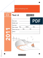 Ks2 Science 2011 Test A