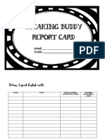 Speaking Buddy Report Card