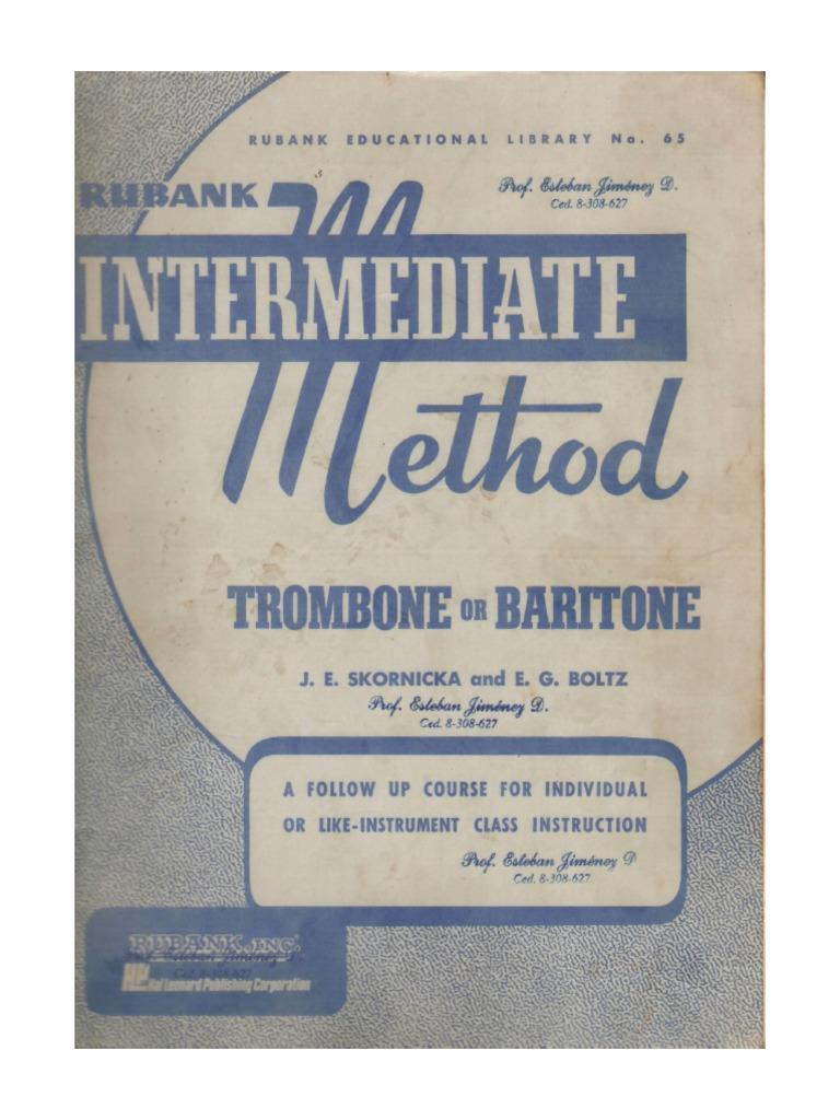 Rubank advanced method trombone pdf