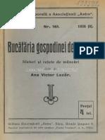 Retete Bucataria Gospodinei de La Sate 1928