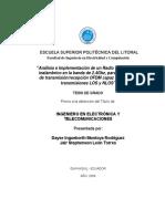 Análisis e Implementación de Un Radio - Transceiver