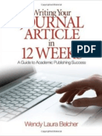 Writing your Journal Article in 12 Weeks