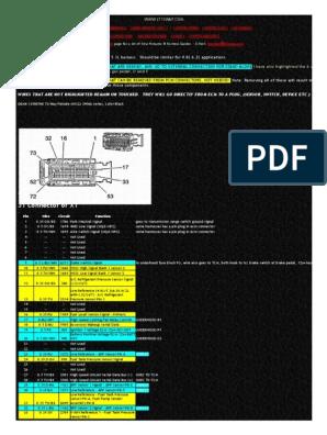E38 ECM Connector Pinouts | Fuel Injection | Electrical