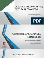 Control Calidad de Concreto y Aditivos de Concreto