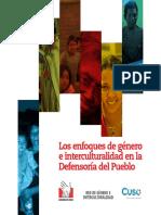 Los Enfoques de Genero e Interculturalidad