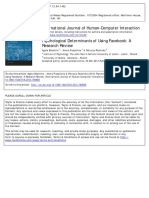 Psychological Determinants of Using Facebook a Research Review