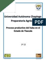 Proceso Productivo Del Haba en El Estado de Tlaxcala