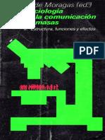 De Moragas Miquel - Sociologia de La Comunicacion de Masas Vol II