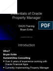 Essentials of Oracle Property Manager