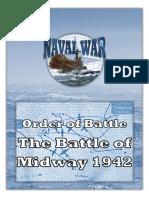Naval War OOB Battle of Midway 1942