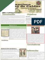 Afiche sobre Francisco Jose de Caldas