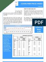 Consumer Price Index - Jun 10