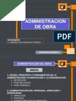 Administracion en Obra