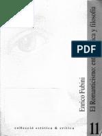FUBINI, E. - El romanticismo entre música y filosofía