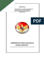 Proposal Turnamen Antar Rt