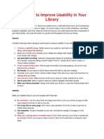 100 Ways to Improve Usability in Your Library