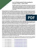 Gender Differences in Mathematical Understanding in Children Part 1 Essay 3247 Words