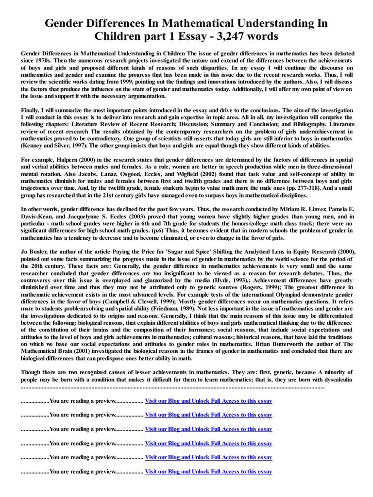 Gender Differences Essay - hepatitze