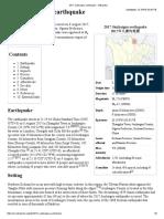 2017 Jiuzhaigou Earthquake