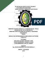 MODULO DE ENTRENAMIENTO EMPLEANDO SOFTWARE LOGO PLC