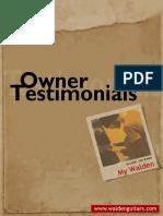 Walden Owner Testimonials