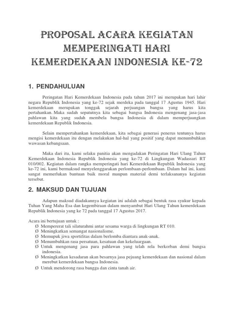 Proposal Acara 17