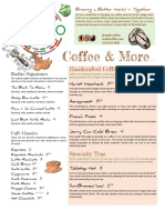 Endiro Coffee USA Full Menu
