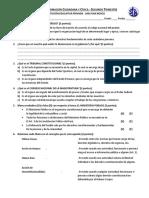 Examen Trimestral Civica 4to - Trimestre 2