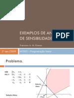 Programação linear - Sensibilidade
