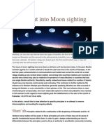 An Insight Into Moon Sighting