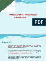 Progresiones Arimc3a9ticas y Geomc3a9tricas