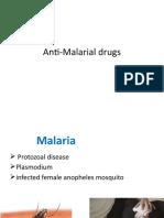 Anti Malarial Drugs