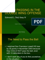 Bunch Passing in the Double Wing Offense