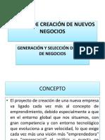 Generacion y Seleccion de Ideas de Negocios i