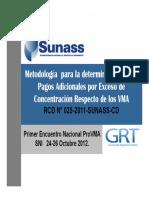 Metodologia de Pago RCD 025 2011 SUNASS